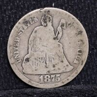 1875 SEATED LIBERTY DIME - GOOD DETAILS 26397