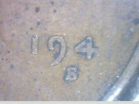 1941-S LINCOLN CENT- WITH CLOGGED DIE ERROR- FILLED