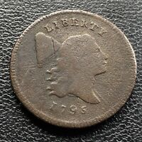 1795 LIBERTY CAP HALF CENT 1/2 FLOWING HAIR  EARLY DATE NICE GRADE VG 21328