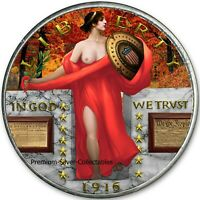 2019 UNITED STATES STANDING LIBERTY RED DRESS  1 OUNCE PURE