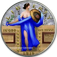 2019 UNITED STATES STANDING LIBERTY BLUE DRESS  1 OUNCE PURE