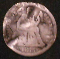 1875-CC SILVER SEATED LIBERTY DIME. SHIPS FREE