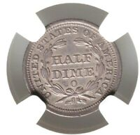 1856-O NGC AU DETAILS SEATED LIBERTY HALF DIME H10 TYPE COIN ABOUT UNCIRCULATED