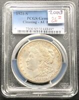 1921 S MORGAN DOLLAR PCGS AU DETAILS CLEANING SILVER $1 20993