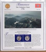 TENNESSEE STATEHOOD QUARTERS P D 2002  POSTAL PANEL COLLECTI