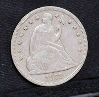 1872 LIBERTY SEATED DOLLAR - EXTRA FINE  DETAILS 26740