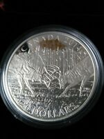2014 WHITE TAILED DEER 'A CHALLENGE' FINE SILVER $20 COIN NO
