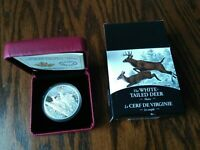 2014 WHITE TAILED DEER 'MATES' FINE SILVER $20 COIN NO RESER
