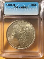 1900 O MORGAN DOLLAR MINT STATE 62 ICG