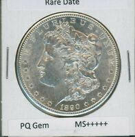 1890 S MORGAN DOLLAR $1 US MINT  DATE PQ GEM SILVER COIN 1890-S MS