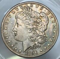 1896-S MORGAN SILVER DOLLAR. BETTER DATE. EXTRA FINE /AU. TONED.