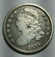 1833 CAPPED BUST DIME FINE DETAIL