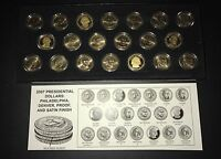 PRESIDENTIAL GOLD DOLLAR SETS 2007 2011 & 2013 2014   5 COIN