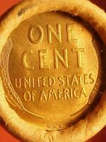 OLD ROLL LINCOLN WHEAT CENT PENNY 1909 VDB'S BOTH ENDS SAN FRANCISCO RESERVE