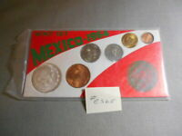 1964 MEXICO SIX COIN TYPE UNCIRCULATED MINT SET 10 SILVER UN PESO 65