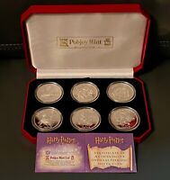 HARRY POTTER COINS  FIRST SILVER  PROOF SET 2001 POBJOY MINT