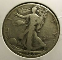 1928-S WALKING LIBERTY HALF DOLLAR FINE