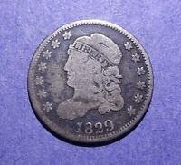 1829 CAPPED BUST HALF DIME VG/G