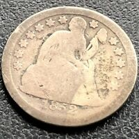 1852 SEATED LIBERTY DIME 10C CIRCULATED 21767