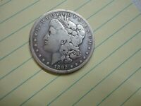 1892-S MORGAN DOLLAR WELL CIRCULATED SILVER BUSINESS