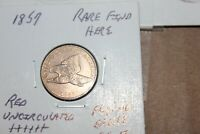 1857  RED  PROOF LIKE  UNC     FLYING EAGLE CENT