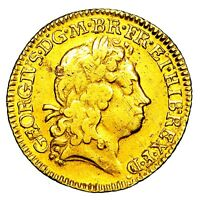 1718 KING GEORGE I GREAT BRITAIN GOLD HALF 1/2 GUINEA COIN