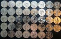 COMPLETE PRESIDENTIAL DOLLAR 39 BU COIN SET LOOSE ROLL ONE EACH 2007   2016