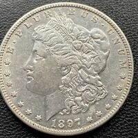 1897 O MORGAN DOLLAR SILVER $1 HIGH GRADE AU  DATE 22491