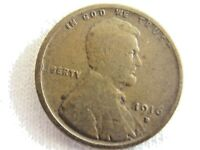 1916 D LINCOLN WHEAT ,  ONE CENT .6.8/28
