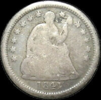 1841 O SEATED LIBERTY HALF DIME H10C KEY DATE BETTER GRADE $  COIN