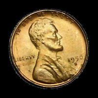 1950 S LINCOLN CENT WHEAT CENT HIGH GRADE BU  RED TONE 1C SAN FRANCISCO MINT