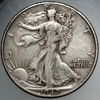 1942D WALKING LIBERTY HALF DOLLAR11 EXTRA FINE  FOR YOUR COLLECTION