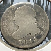 1814 CAPPED BUST DIME 10C CIRCULATED 2055