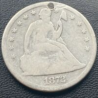 1872 S SEATED LIBERTY ONE DOLLAR $1   VG DETAILS SAN FRANCISCO 23751