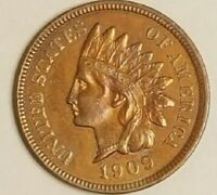1909 S INDIAN HEAD CENT CLEANED