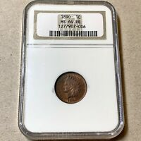 1890 INDIAN CENT   NGC MINT STATE 64 RB
