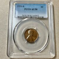 1931-S LINCOLN CENT    PCGS AU 58  KEY DATE