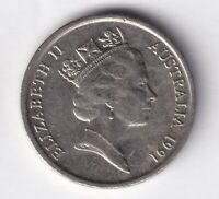 1991 AUSTRALIAN 10 CENT COIN - VARY LOW MINTAGE - KEY DATE -  5