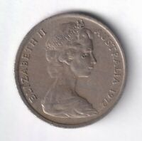 1972 AUSTRALIAN 5 CENT COIN -  LOW MINTAGE - KEY DATE -   1