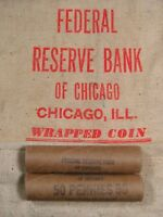 ONE  UNCIRCULATED FRB CHICAGO LINCOLN WHEAT CENT PENNY ROLL
