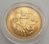 2005 GOLD HALF SOVEREIGN IN CAPSULE.