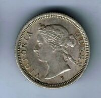 1879 STRAITS SETTLEMENTS 5 CENTS SILVER COIN : 1.3G