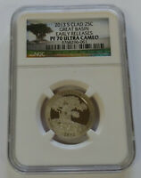 2013 S GREAT BASIN NGC PF70 ULTRA CAMEO EARLY RELEASE CLAD Q
