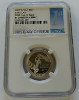 2015 S SARATOGA NGC PF70 ULTRA CAMEO FIRST DAY ISSUE CLAD QU