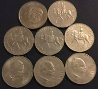 8 ASST UK COMMEMORATIVE CROWN COIN LOT GREAT BRITAIN QUEEN E