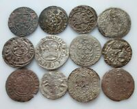 MIXED MEDIEVAL SILVER COIN IN THE LOT 12 PCS 5 83G.