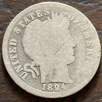 1894 BARBER DIME 10C SILVER CIRCULATED 24391