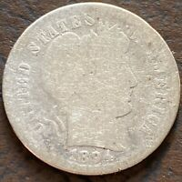 1894 BARBER DIME 10C SILVER CIRCULATED 24395