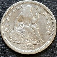 1852 SEATED LIBERTY HALF DIME 5C BETTER GRADE EXTRA FINE  DETAILS 24493
