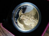 2014 LEGEND OF NANABOOZHOO FINE SILVER $20 COIN NO RESERVE